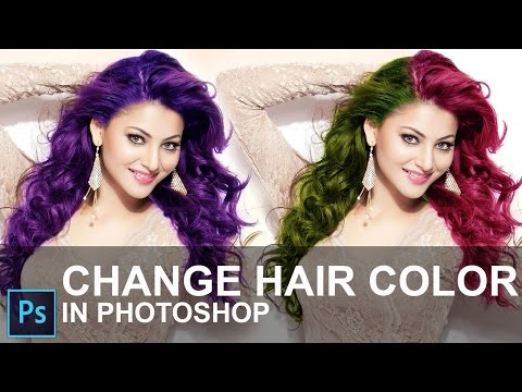 How to Change Hair Color in Photoshop CC 2015 [ In Hindi ]