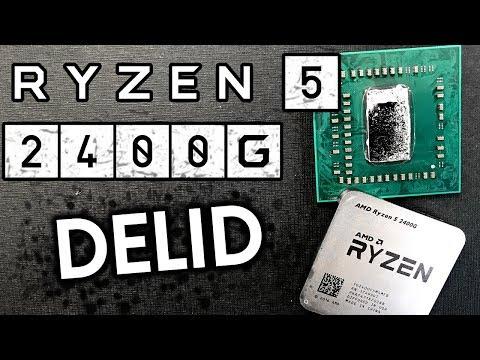 Raven Ridge - Ryzen 5 2400G delidding. Before/After Temps (en)