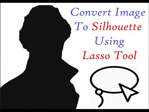 How to convert an image into a Silhouette using magnetic lasso tool