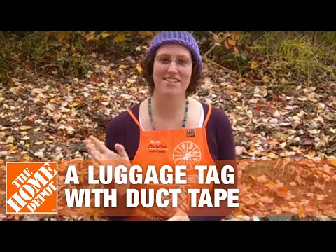 How To Make a Luggage Tag with Duct Tape  - The Home Depot