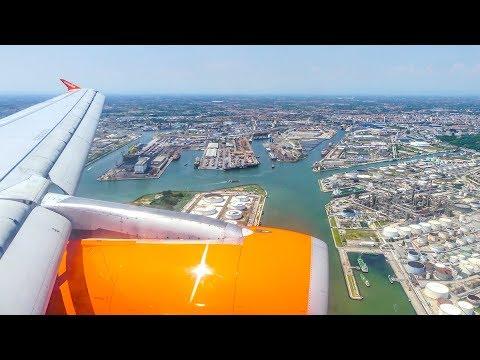 [4K] EasyJet A319-100 G-EZDY landing @ Venice Marco Polo Intl. Airport
