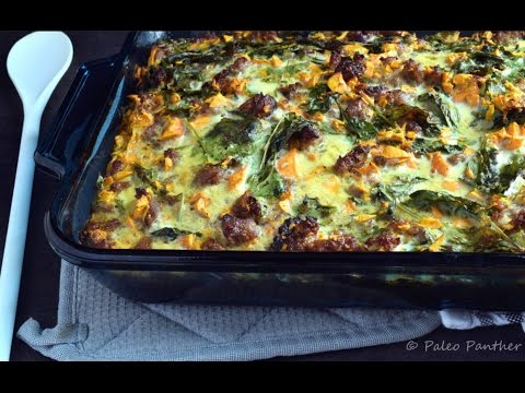 Sausage Sweet Potato Breakfast Casserole