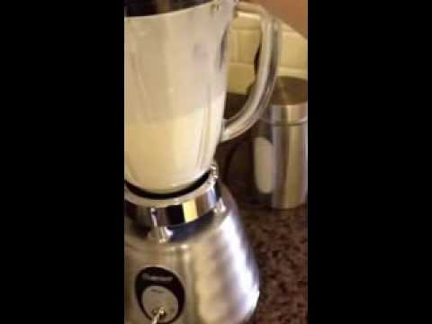 Homemade Whip cream in a Blender