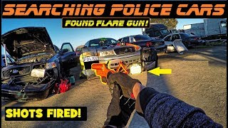 Searching Police Cars Found Flare Gun! Ford Crown Victoria Interceptor P71
