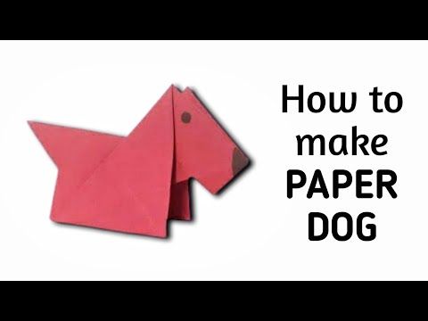 How to make origami paper dog - 2 | Origami / Paper Folding Craft, Videos & Tutorials.