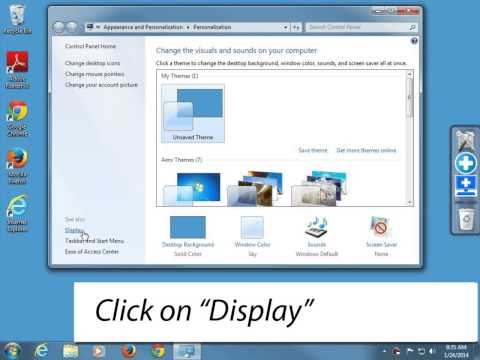 How to change desktop icons size in Windows 7