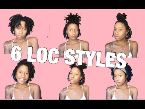 6 EASY Hairstyles For Starter Locs | Short / Medium Length | XOXKYA