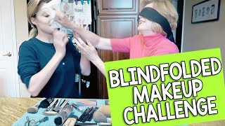 blindfolded makeup challenge w my mom grace helbig