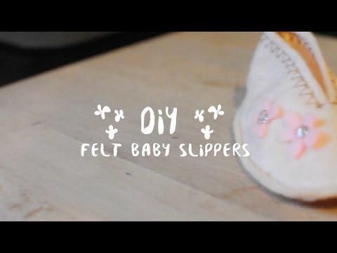 Sewing Parts Guru - DIY Felt Baby Slippers