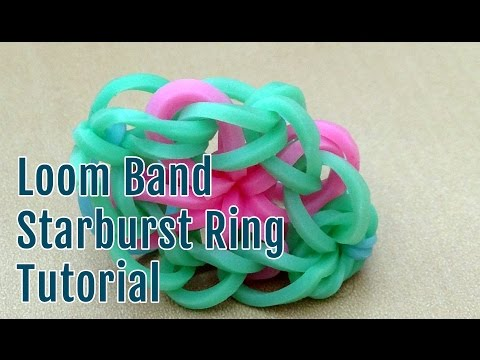 Making a loom band starburst ring
