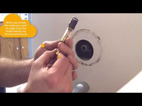 How to install Moen 1225 & 1225b Shower Cartridge.  Similar to 1222