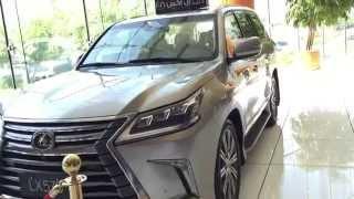 #x202b;مشاهدة جيب لكزس Lx570 2016 بريمي ( وارد بهوان ) اللون الذهبي Lexus Lx 570 In Oman#x202c;lrm;