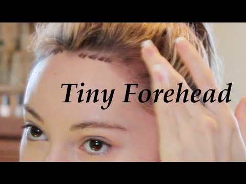 Get a Tiny Forehead Tutorial! ( Lower Hairline )