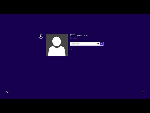 Switching Among User Accounts in Windows 8 - Lesson 13