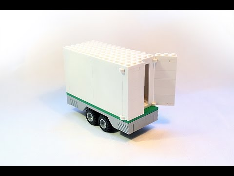 LEGO Instructions: How to build easy LEGO trailer with opening doors