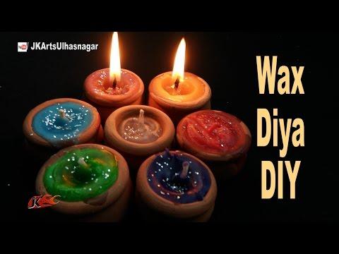 DIY Wax Diya for Diwali Decoration | How to Make candles | JK Arts 1070
