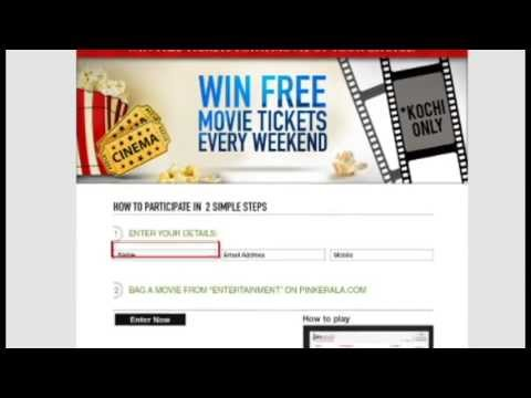 pinkerala contest - win free movie ticket