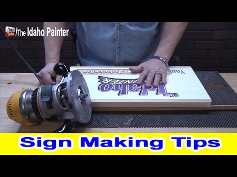How To Make A Wood Sign.  Sign Making Tips With A Router.