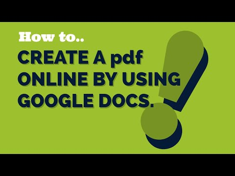 How to create a pdf online by using google drive. From any format file.