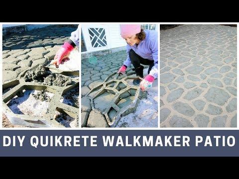 Quikrete Walkmaker Patio DIY Project Tutorial