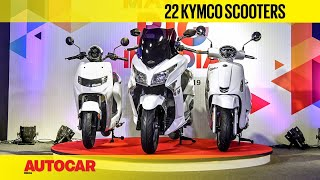 22 KYMCO iFlow, Like 200 and X-town 300i scooters | First Look and Walkaround | Autocar India