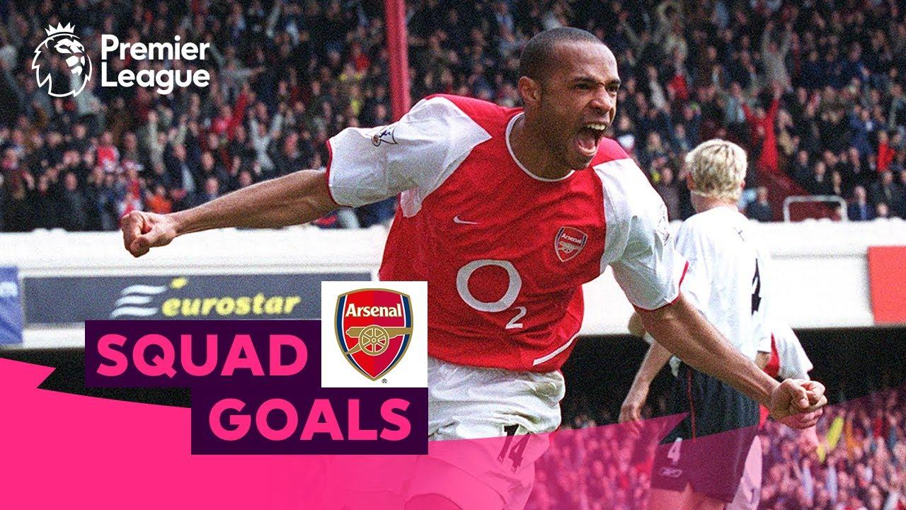 Amazing Arsenal Goals | Henry, Bergkamp, Aubameyang | Squad Goals