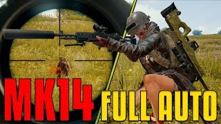 MK14 Full Auto And AWM - 22 Kill 1st Person | PUBG