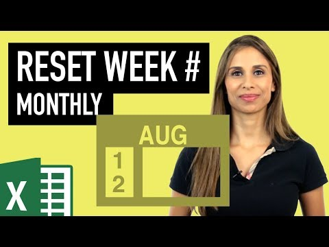 Excel Reset Week Number Every Month - (WeekDay & WeekNum Functions Explained)