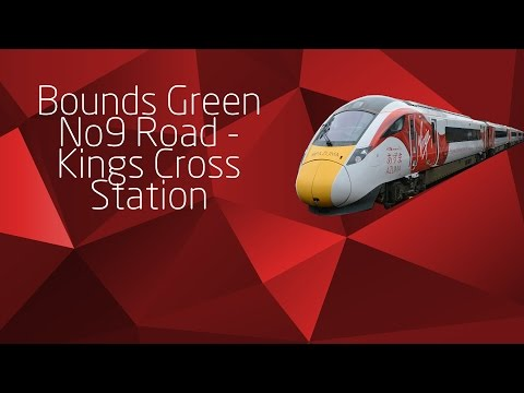 Bounds Green No9 Road To Kings Cross Station - East coast Route Learning