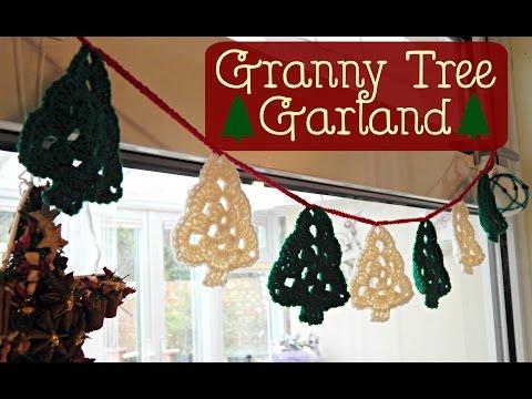 Granny Tree Garland Bunting How To Tutorial // Crochet // ¦ The Corner of Craft