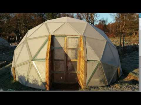 Another way to make a flat bottom geodesic dome