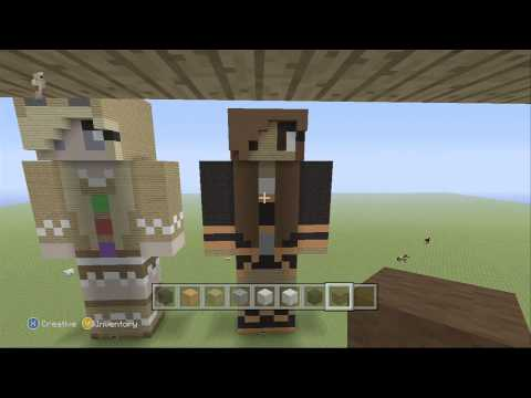 Minecraft | Batman Fan-Girl Statue | Tutorial