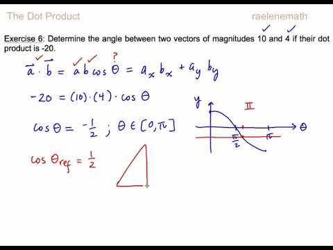 1.2 The Dot Product Ex. 4,5,6,7