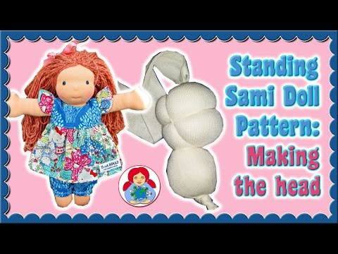 DIY | Making a cloth doll head Step by Step Instructions • Standing Sami Pattern