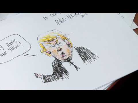 Mike Luckovich shows how to make a great political cartoon PT 1