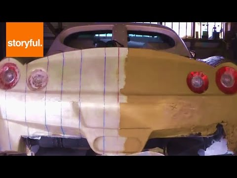 How To Make A Ferrari Body Out Of Clay (Storyful, Auto)