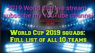 Download #World Cup World Cup 2019 Squads Full List Of All 10 Teams Video