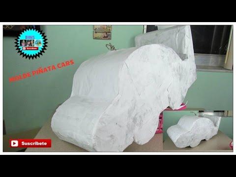molde piñata de cars,  mcqueen   decoracion dianis
