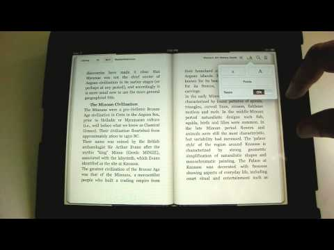 Using eBook Features in iBooks - An iPad Mini Tutorial