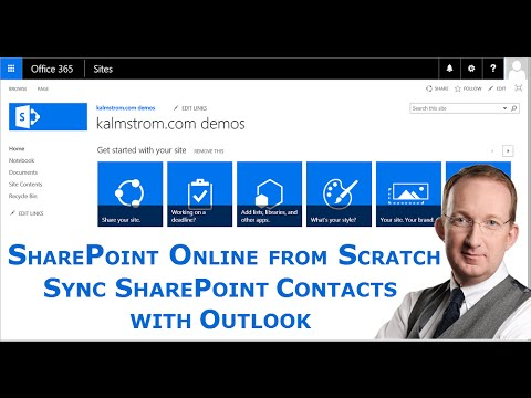 Sync a SharePoint Contacts list with Outlook