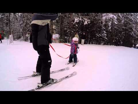 2.5 year old skiing for the first time