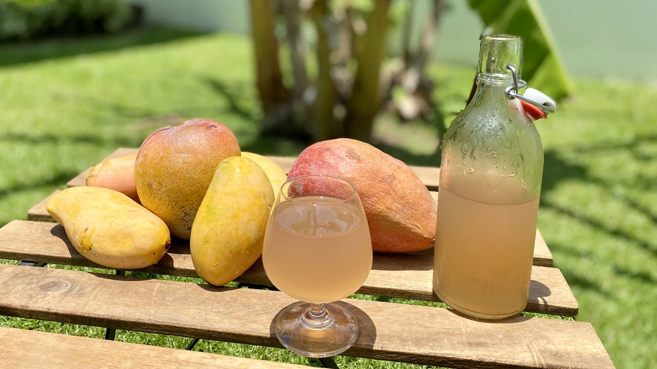 MANGO WINE how to make at home - Healthy Homemade Wine without  Yeast - Easy recipe for beginners