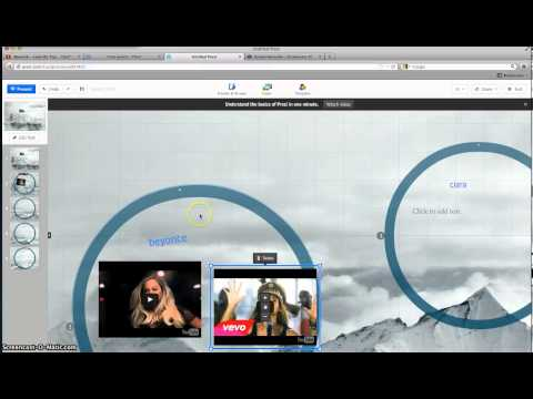 add songs picture to prezi