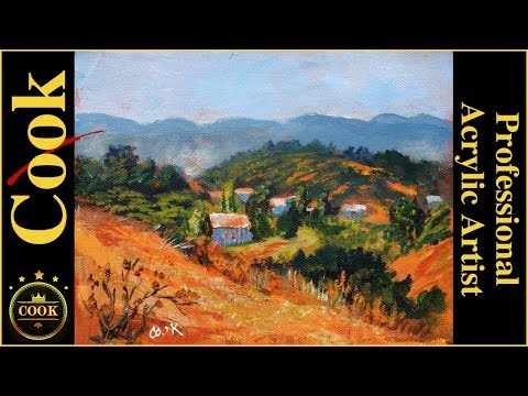 California Vista Acrylic Landscape Painting  for Beginner and Advanced Artists