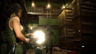 Resident Evil 2 Remake - Claire 2nd: HARDCORE Infinite Minigun Gameplay PS4 PRO (No Saves/Cutscenes)