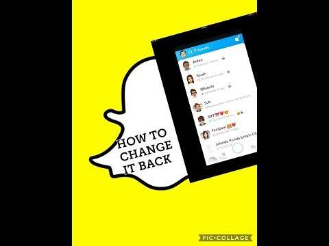 How to fix the new Snapchat update (2018) iOS how to get the old update back