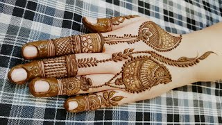 Beautiful Designer Mehndi Inspired By Mehndi By Hayat Heena Vahid