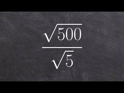 Tutorial - Learn how to divide the square root of two numbers, root(500)/root(5)