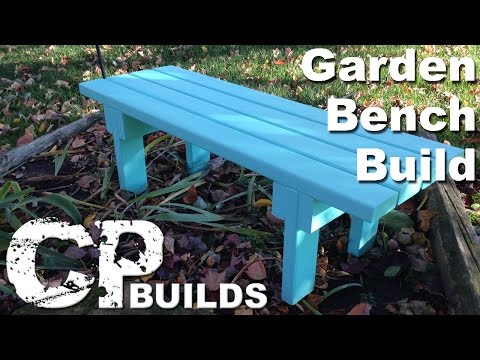 DIY Garden Bench : 2x4 Project // Woodworking How-To