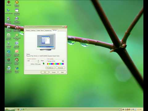 How To Change Your Screens Resolution On XP